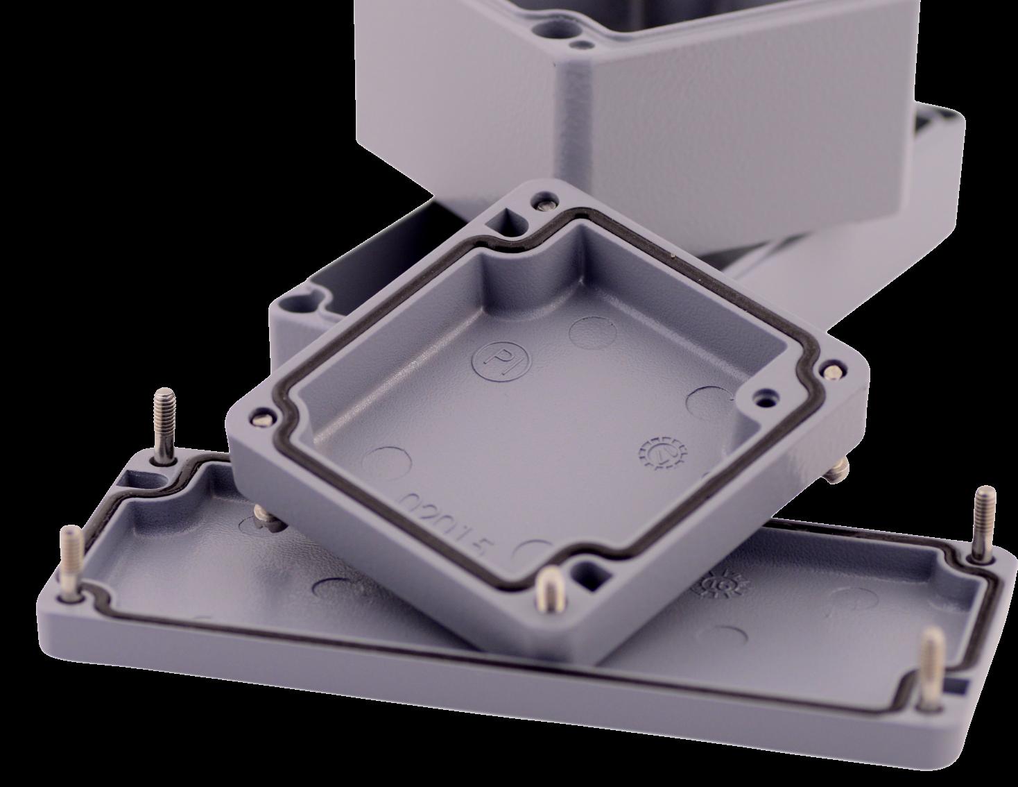 Metallgehäuse Alster mit sehr hoher IP Schutzart und hoher IK Schlagfestigkeit