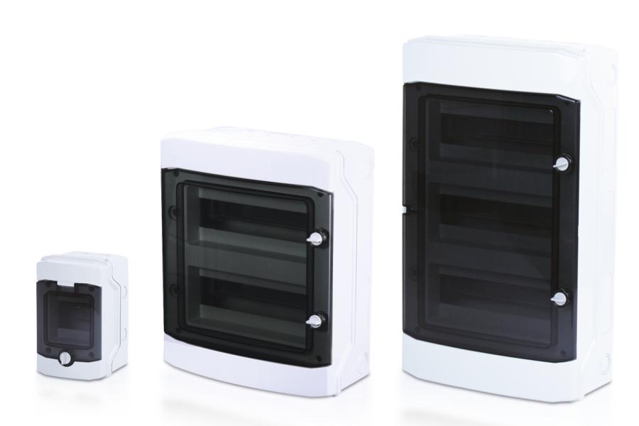 DISBOX F Wandgehäuse mit transparentem Deckel