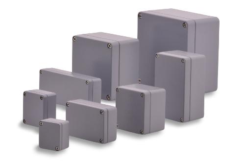 Aluminium Gehäuse in diversen Größen mit hoher Schlagfestigkeit