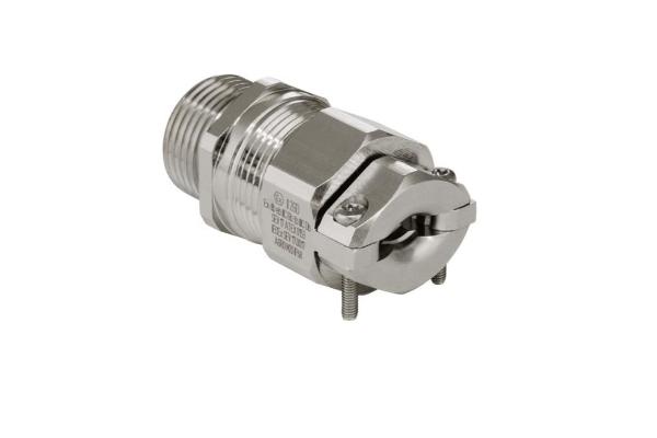 ATEX Kabelverschraubung mit Zugentlastung als Zubehör und ideale Einführung an Gehäusen.