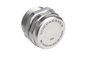 ATEX Druckausgleichselement als Zubehör und ideale Einführung an Gehäusen.