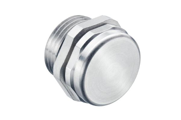 Druckausgleichselement aus Metall als Zubehör und ideale Einführung an Gehäusen.